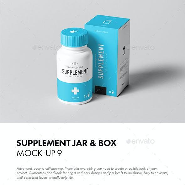 Supplement Jar & Box Mock-up 9