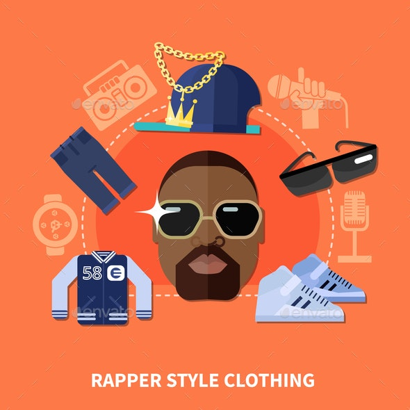Rapper Style Clothing Composition - People Characters