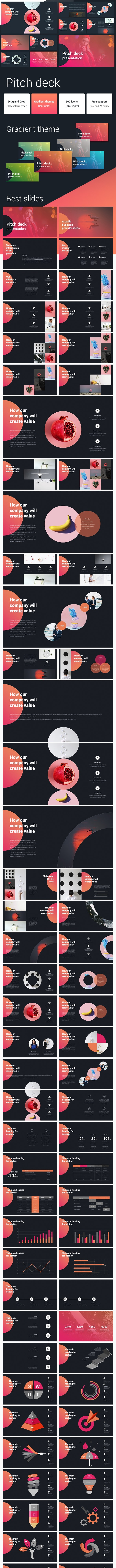 Pitch Deck Gradient Powerpoint Template - Pitch Deck PowerPoint Templates