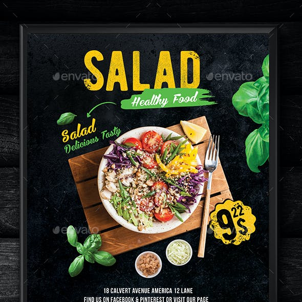 Salad Flavor Flyer Template