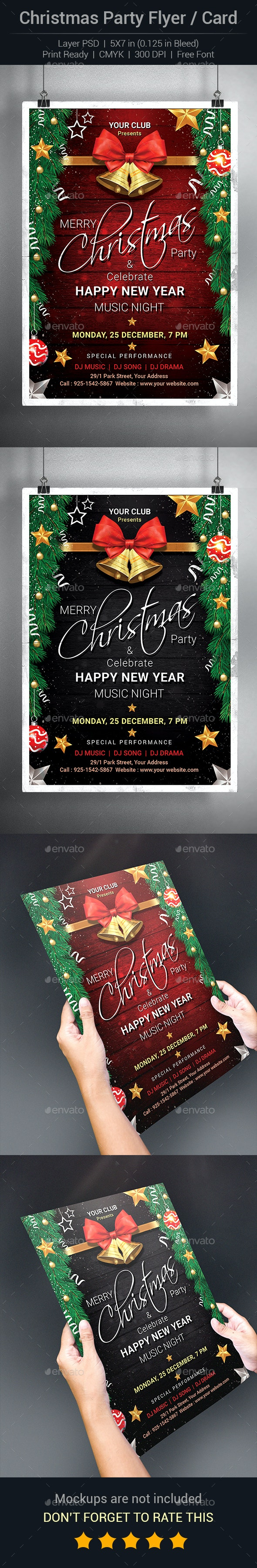 Christmas Flyer or Invitation Card - Events Flyers