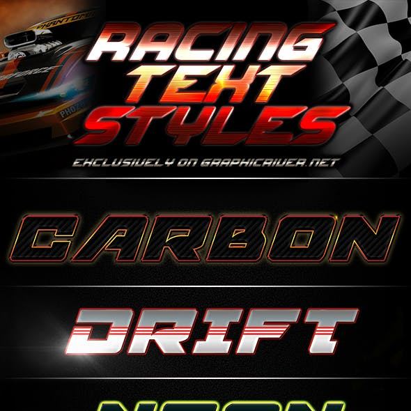 Racing Text Effects