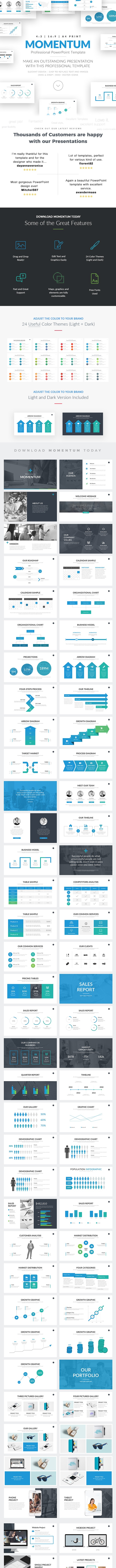 Momentum Professional Business PowerPoint Template - PowerPoint Templates Presentation Templates