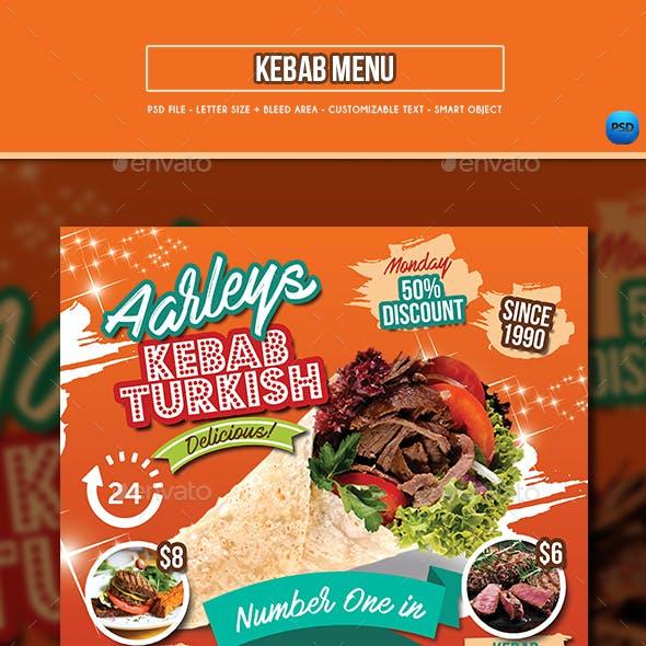 Kebab Menu Template