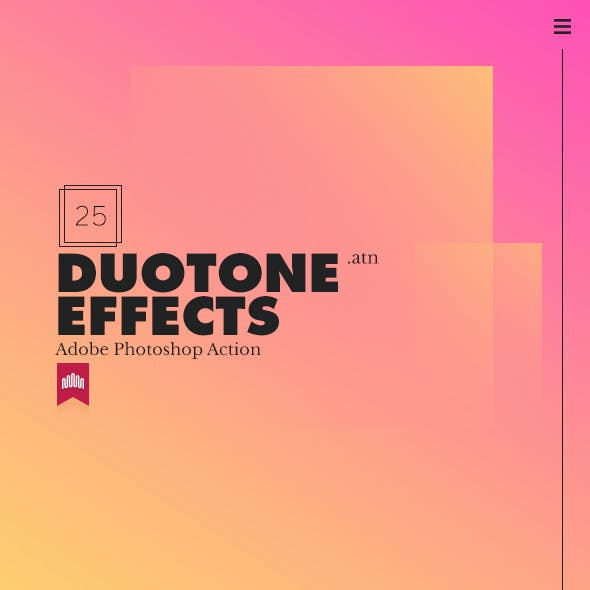25 Duo-Tone Action Effect