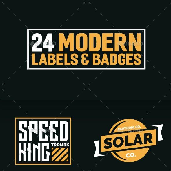 24 Modern Label and Badges