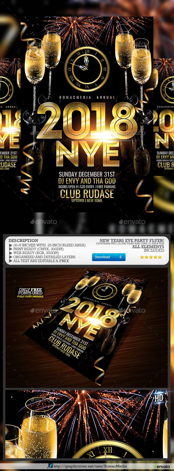New Years Eve Party Flyer - Clubs & Parties Events