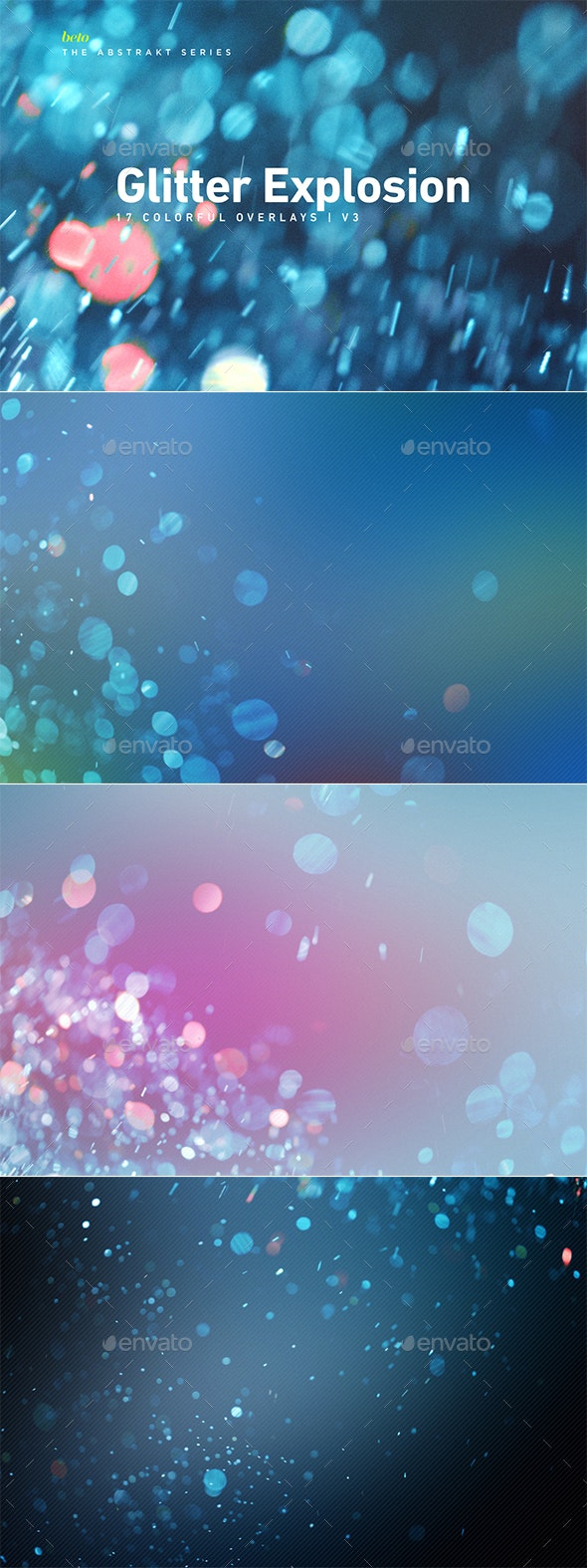 Colorful Glitter Explosion V3 - Abstract Backgrounds