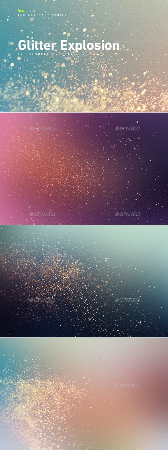 Colorful Glitter Explosion V5 - Abstract Backgrounds