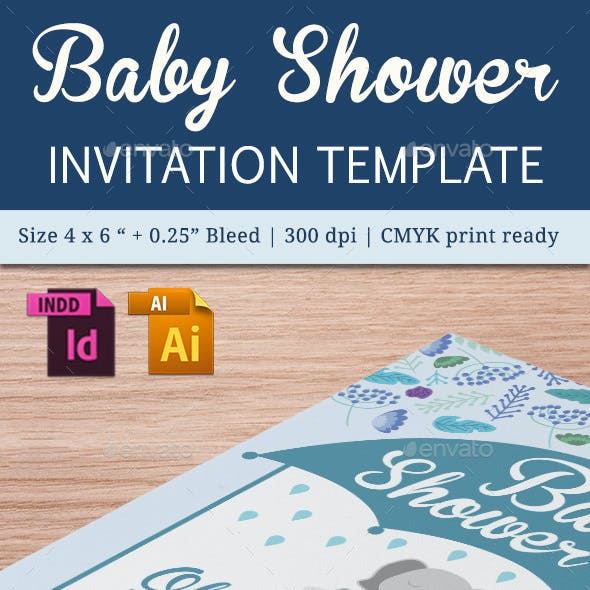 Baby Shower Template - Vol. 18