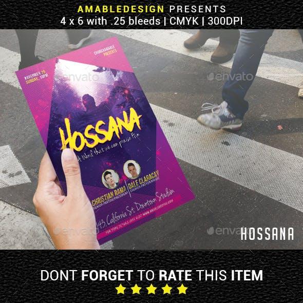 Hossana Church Flyer