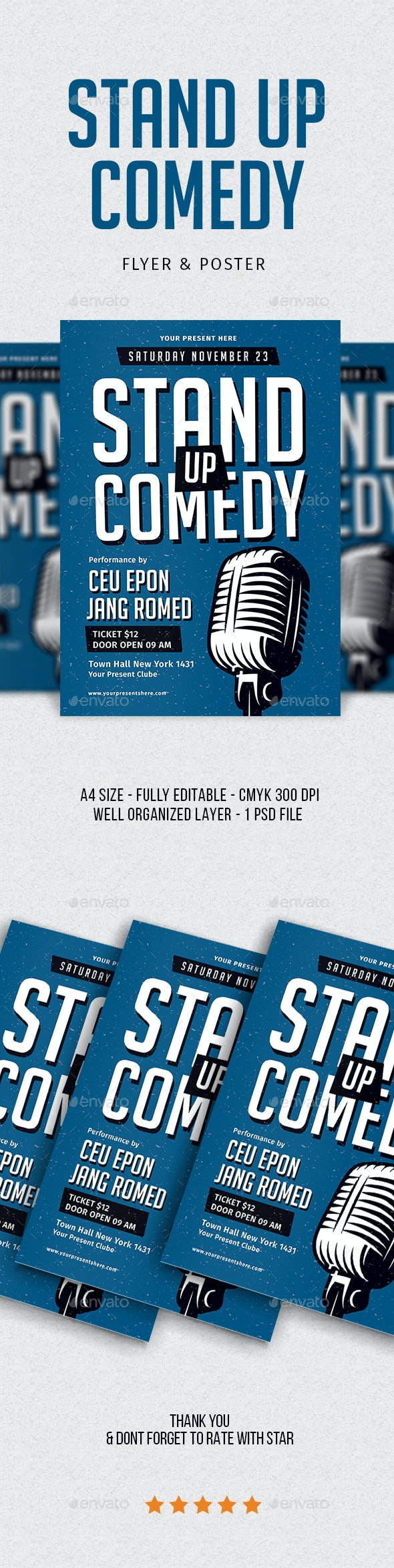 Stand Up Comedy Flyer - Flyers Print Templates