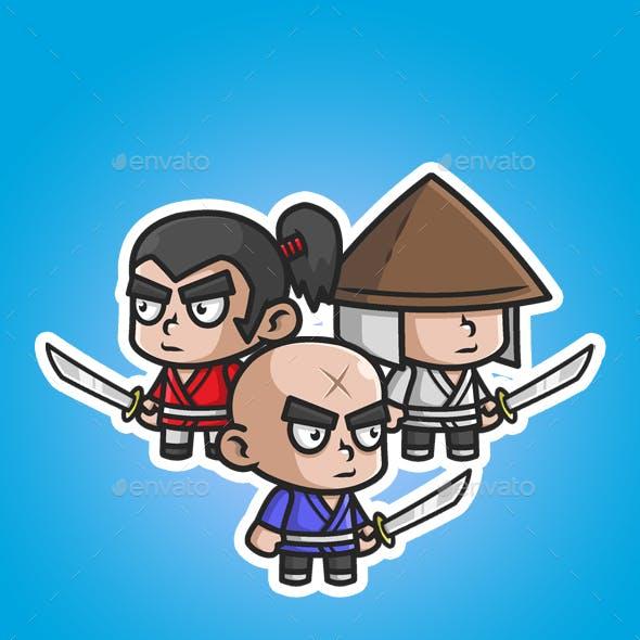 Samurai Chibi Game Characters