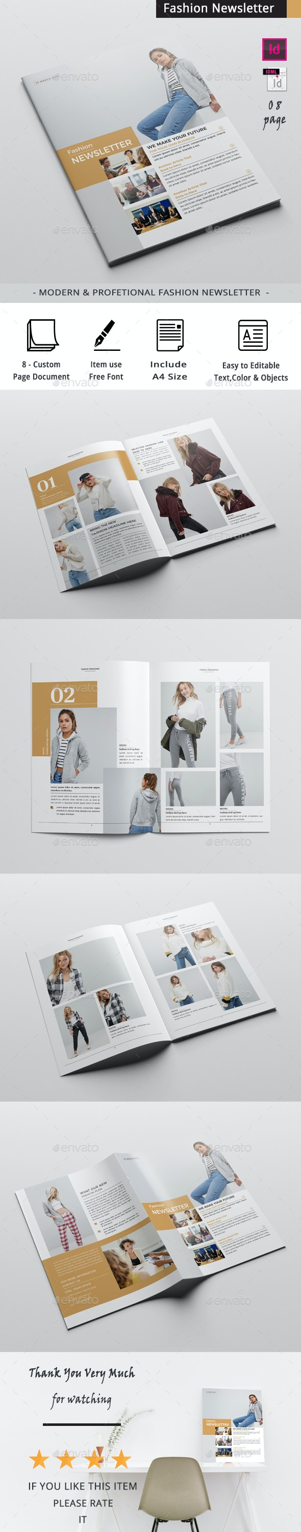 Fashion Newsletter - Newsletters Print Templates