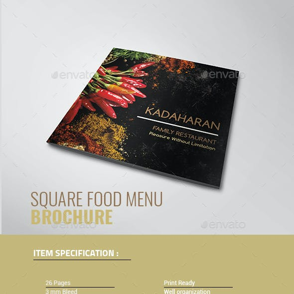 Square Food Brochure
