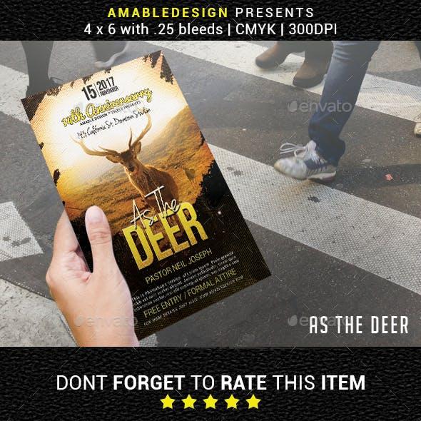 As The Deer Church Flyer