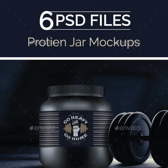 Protein Container, Supplement bottle Mock Up