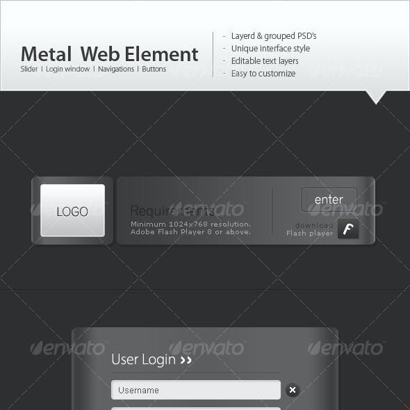 Metal web elements