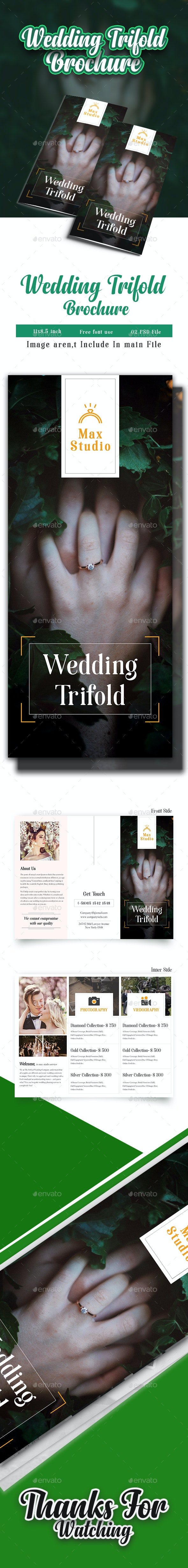 Wedding Trifold Brochure - Brochures Print Templates