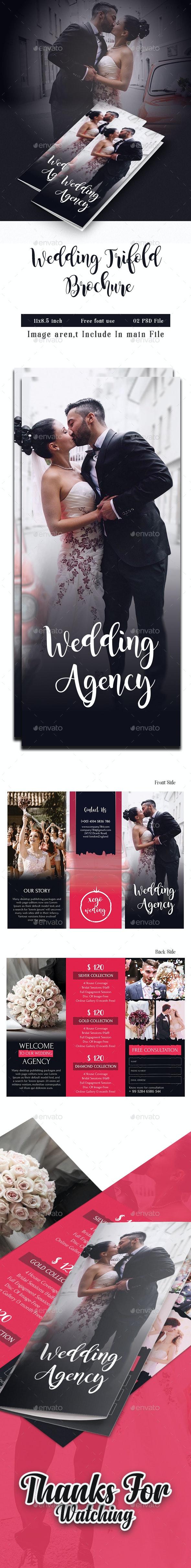 Wedding Photography Trifold - Brochures Print Templates