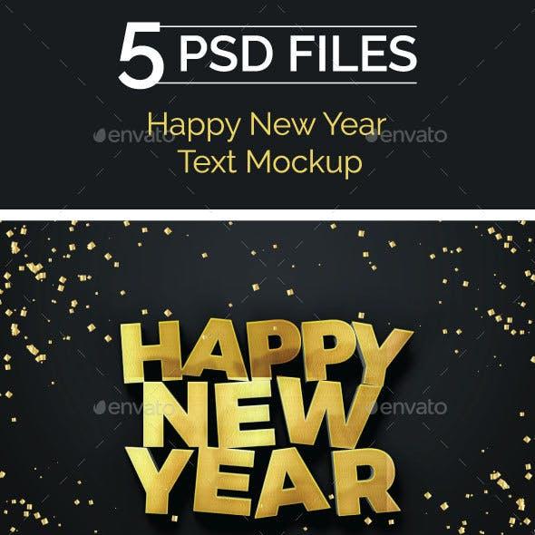 Happy New Year 2018 Text Mockup