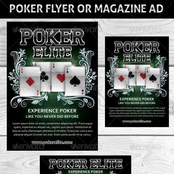 Poker Magazine Ads or flyers Template 2