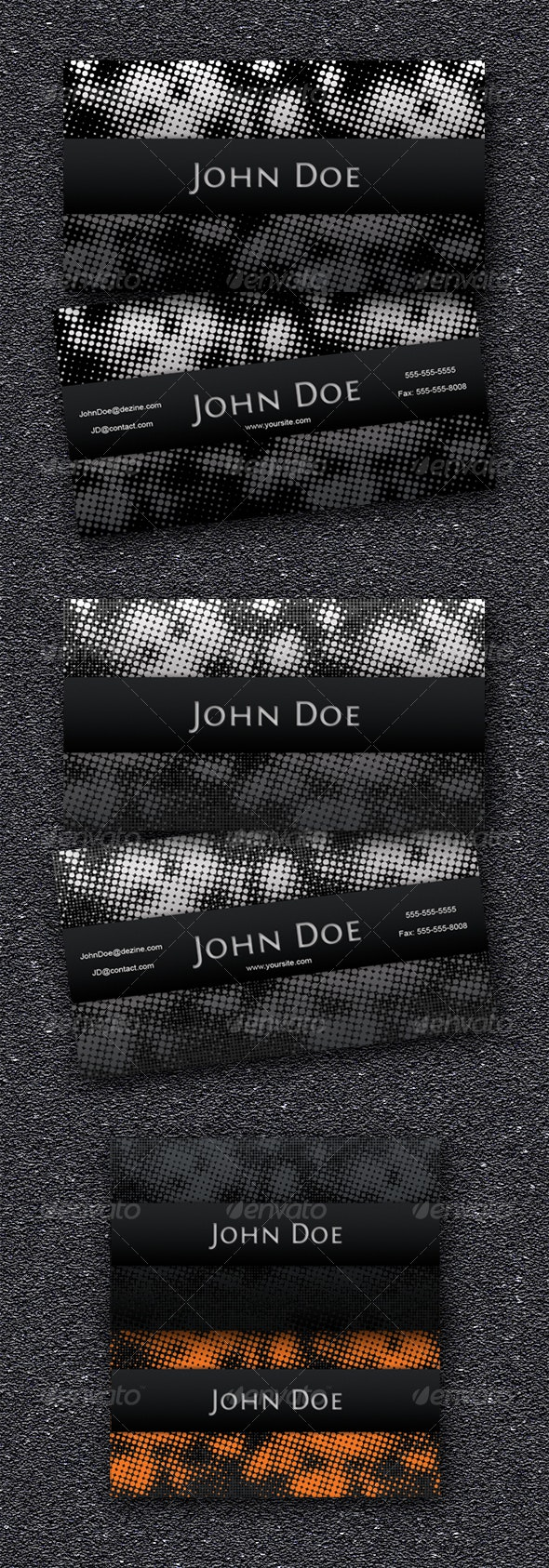 Dots Business Card - Grunge Business Cards