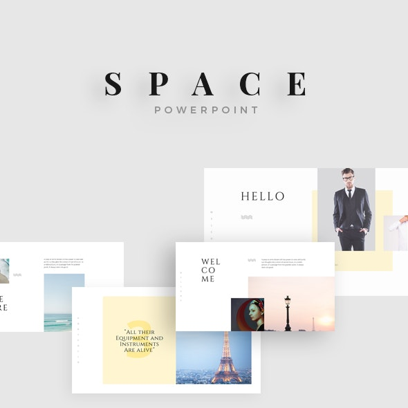 Space Minimal Powerpoint - PowerPoint Templates Presentation Templates