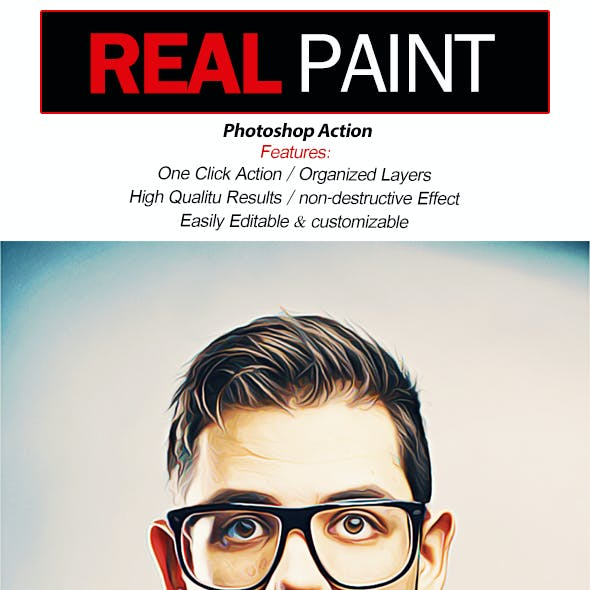 Real Paint-Photoshop Action