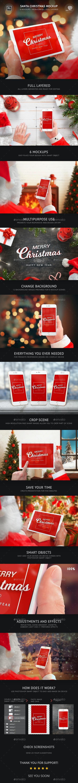 Santa Christmas Mockup - Mobile Displays