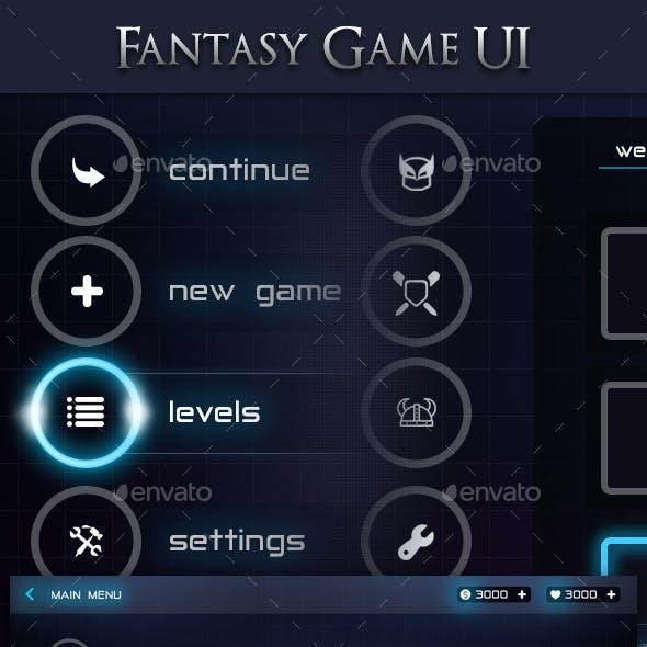 Modern Fantasy Game Ui