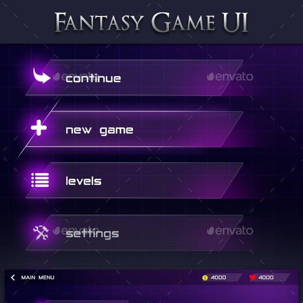 Modern Fantasy Game UI 2