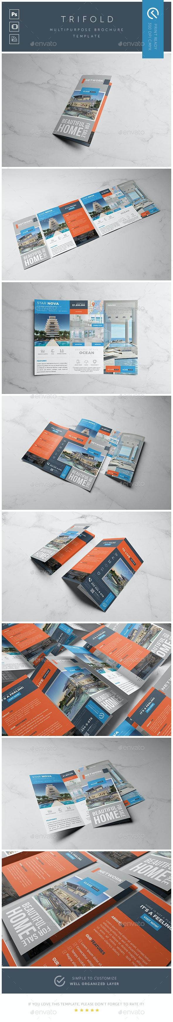 Real Estate Trifold Brochure / Flyer - Brochures Print Templates