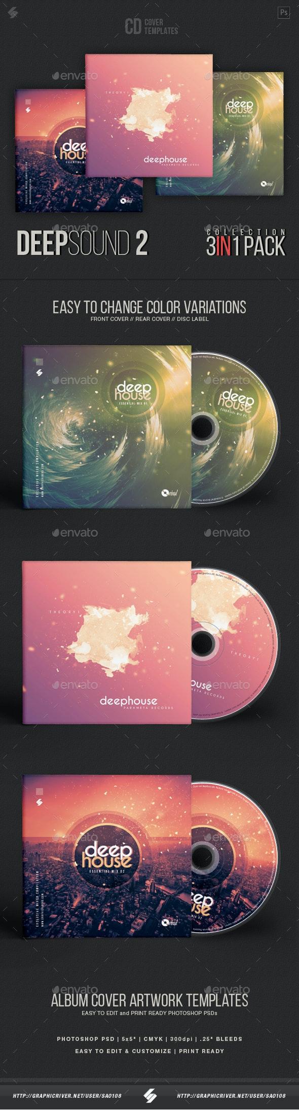 Deep Sound Collection 2 - CD Cover Artwork Templates Bundle