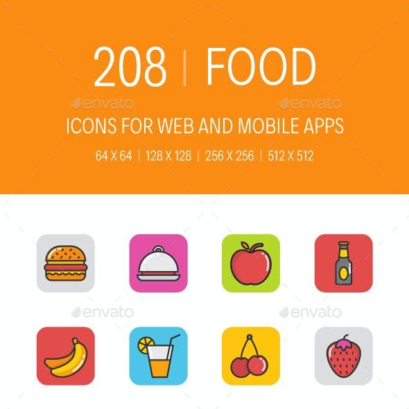 208 Food Icons