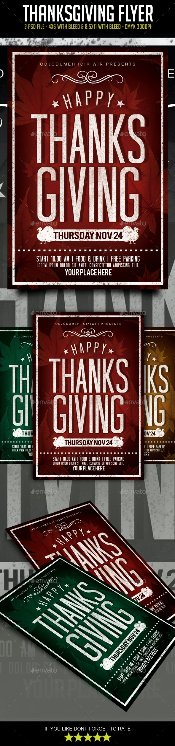 Thanksgiving Flyer - Events Flyers