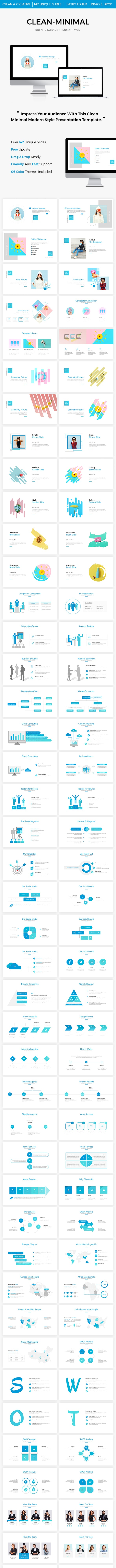 Clean PowerPoint Presentation Template 2017 - PowerPoint Templates Presentation Templates