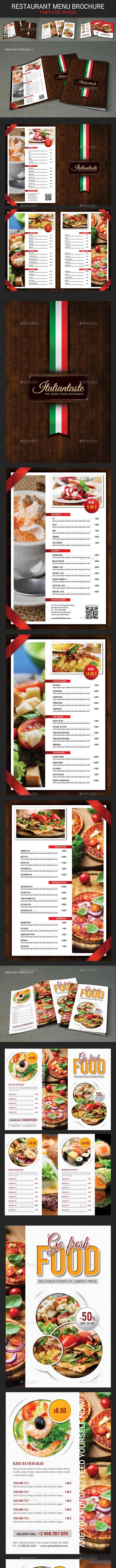 Restaurant Menu Brochure Bundle - Brochures Print Templates