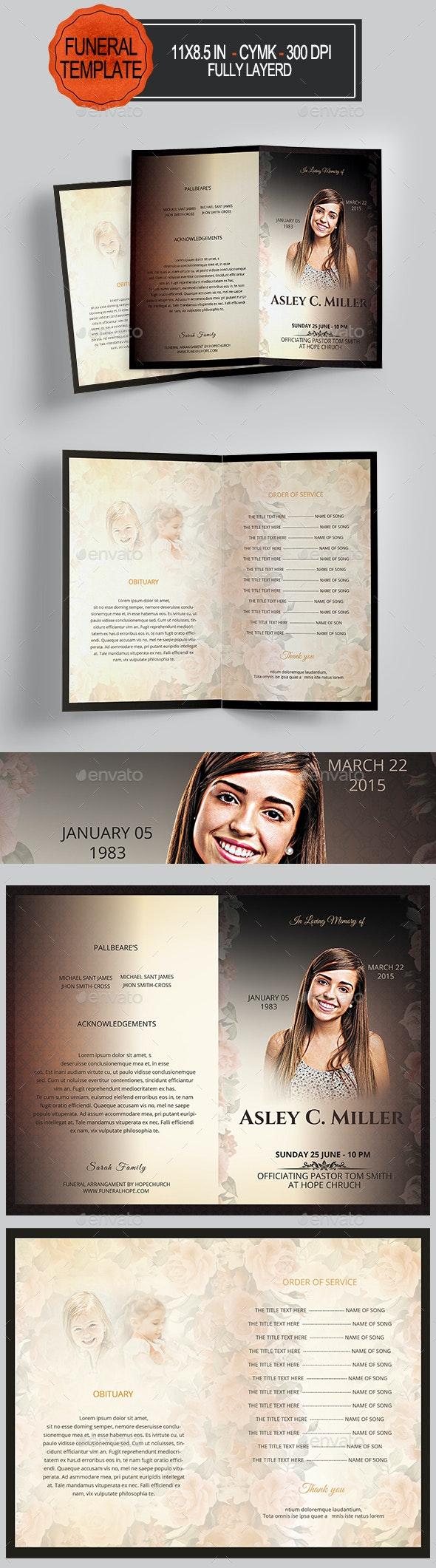 Funeral Program Template - Informational Brochures