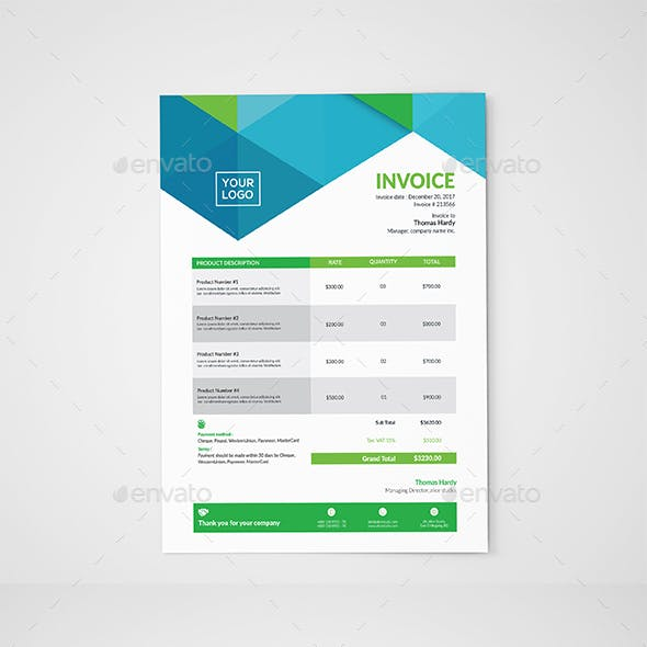 Invoice Templates Graphics Designs Templates