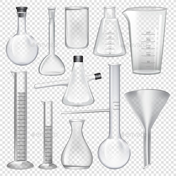Laboratory Glassware Instruments - Man-made Objects Objects