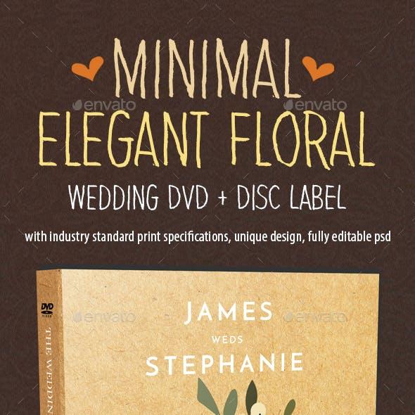 Minimal Elegant Floral Wedding DVD Covers