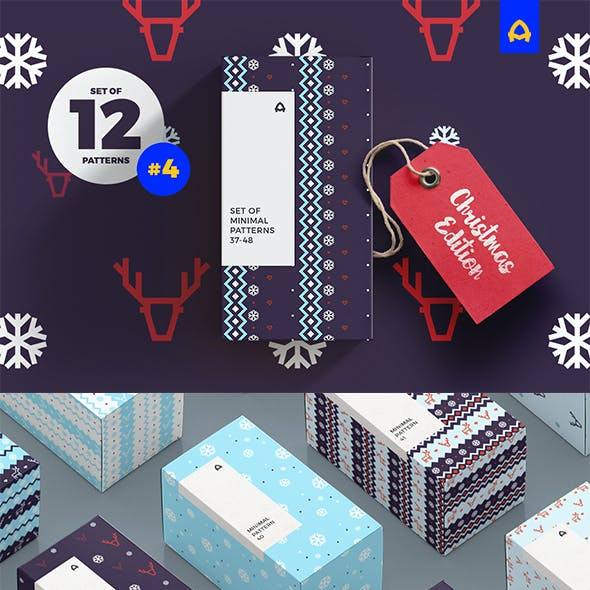 Set of Minimal Christmas Patterns vol. 2