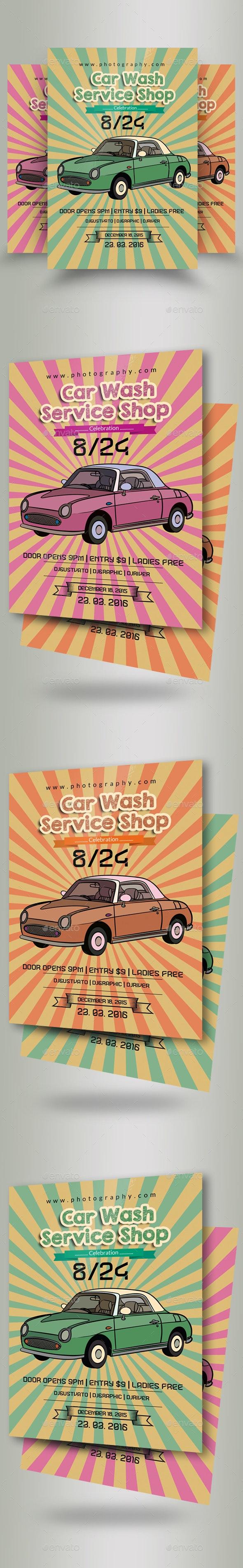 Car Wash Flyer Template - Flyers Print Templates