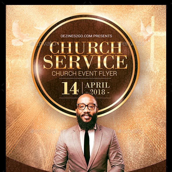 Church Service Flyer Template V2