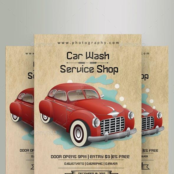 Vintage Car Wash Flyers