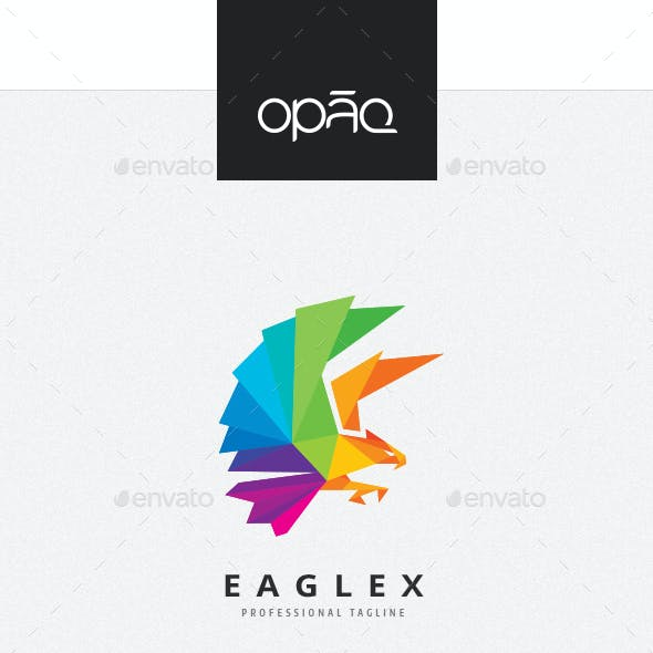 Eagle Colorful Polygon Logo
