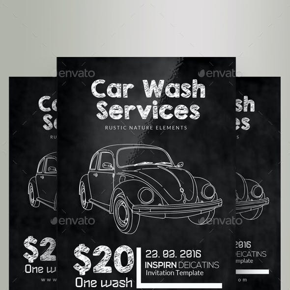 Calk Board Car Wash Flyer