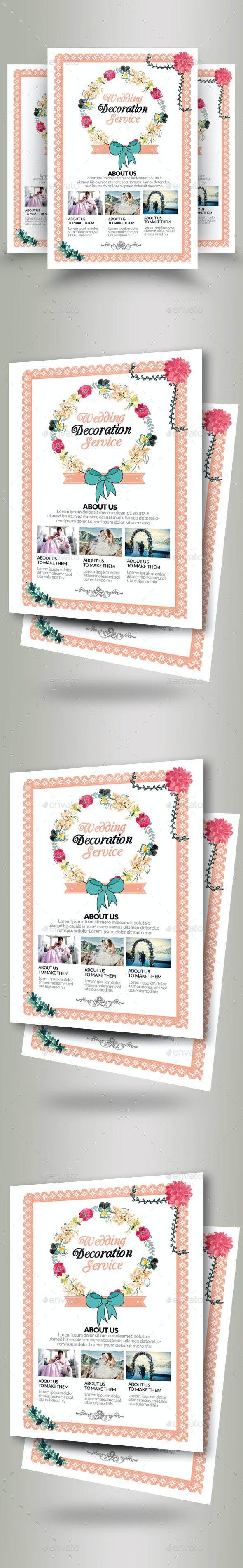 Wedding Invitation Flyer - Flyers Print Templates