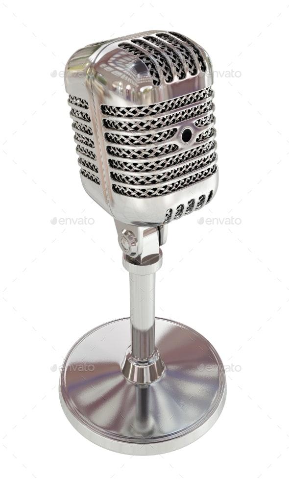 Vintage Studio Microphone. 3D Render - Objects 3D Renders